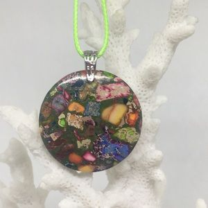 Sea Sediment Jasper Necklace on Waxed Cotton Cord